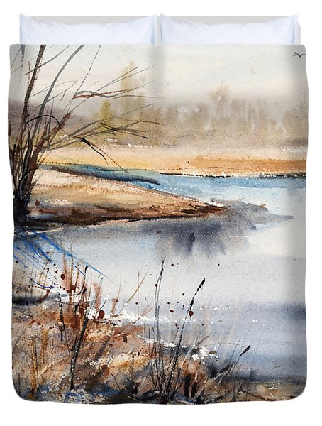 Peaceful Stream Duvet Cover by Judith Levins