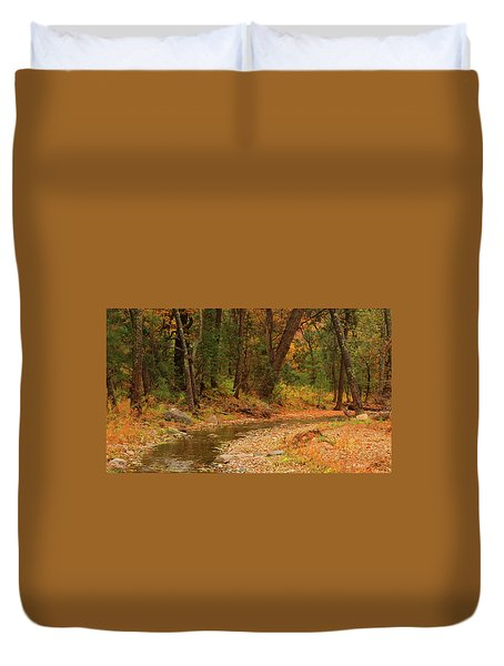 Peaceful Stream Duvet Cover by Roena King