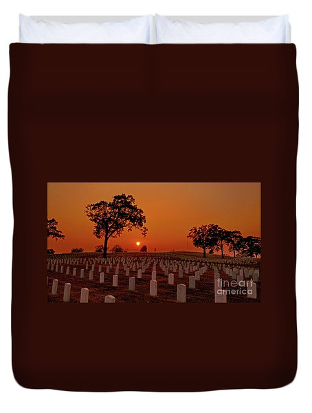 Peaceful Sunset Duvet Cover