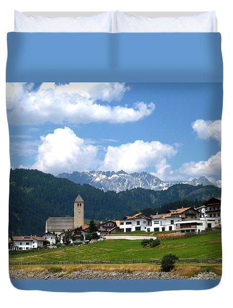 Peaceful Village Duvet Cover