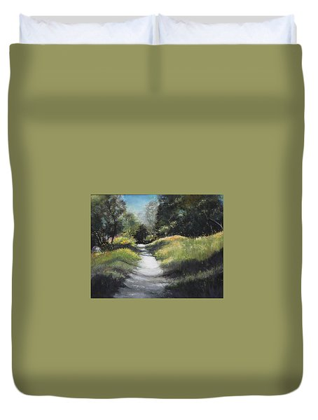Peaceful Walk In The Foothills Duvet Cover