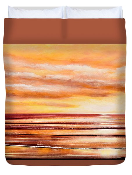 Peacefully Yours - Panoramic Sunset Duvet Cover