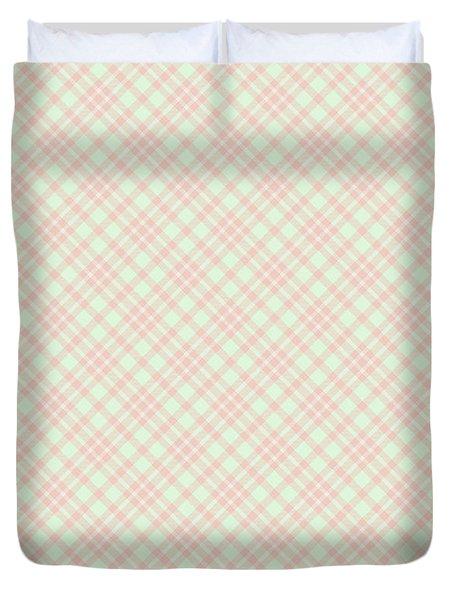 Peach And Cucumber Plaid Duvet Cover