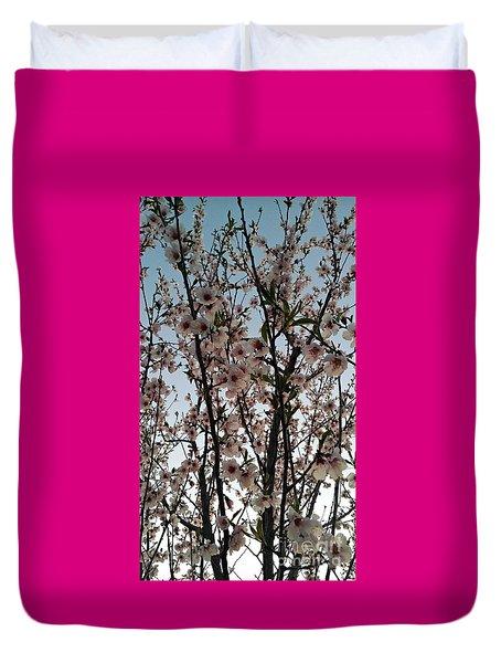 Peach Blossoms Duvet Cover by Diamante Lavendar