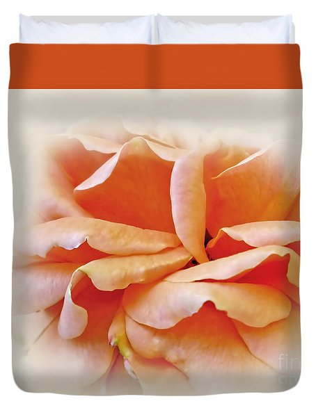 Peach Delight Duvet Cover by Kaye Menner