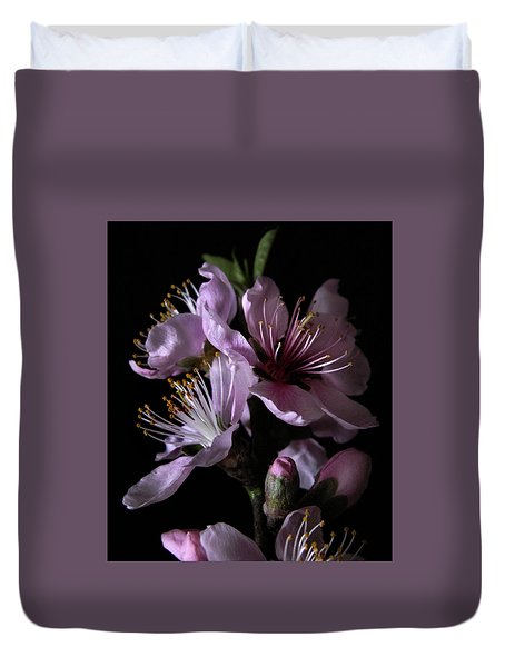 Peach Tree Blossom Two Duvet Cover