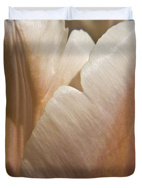 Peach Tulip Duvet Cover by Teresa Mucha