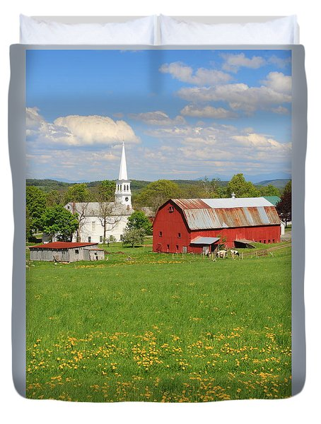 Peacham Vermont Spring Afternoon Duvet Cover