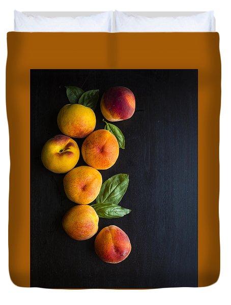 Peaches And  Basil Duvet Cover