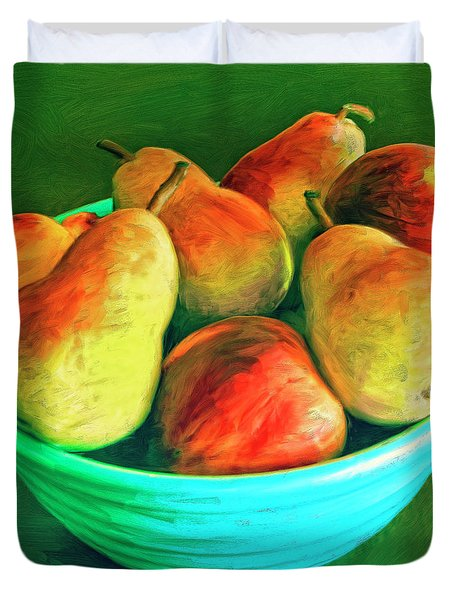 Peaches And Pears Duvet Cover by Dominic Piperata