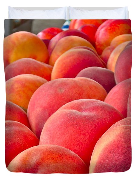 Peaches For Sale Duvet Cover