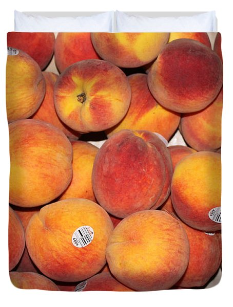 Peaches Duvet Cover by Lauri Novak