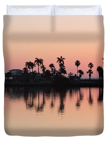 Peachy Dawn Duvet Cover