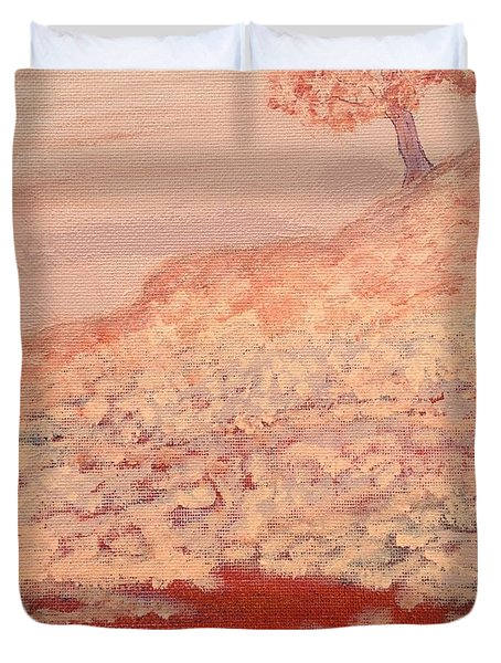 Peachy Day Duvet Cover