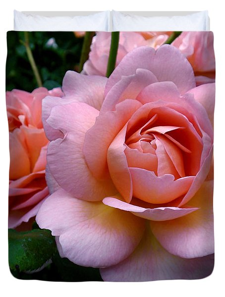 Peachy Pink Duvet Cover