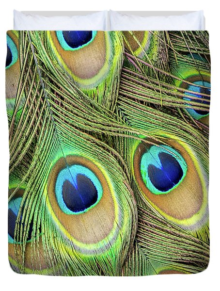 Living Peacock Abstract Duvet Cover