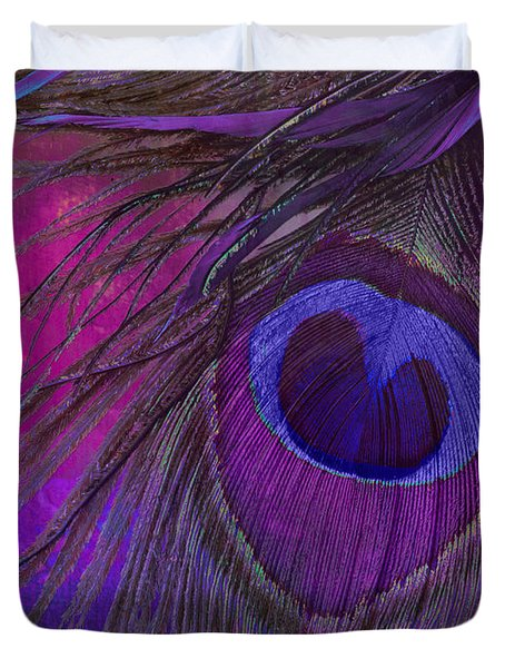 Peacock Candy Purple  Duvet Cover
