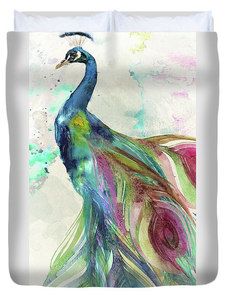 Peacock Dress Duvet Cover by Mindy Sommers