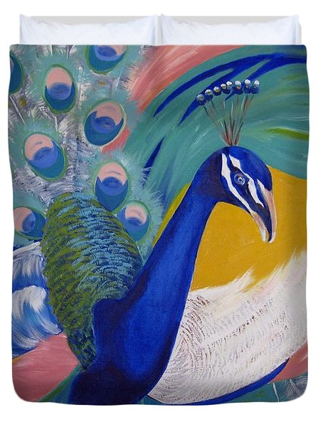 Peacock Glory Duvet Cover