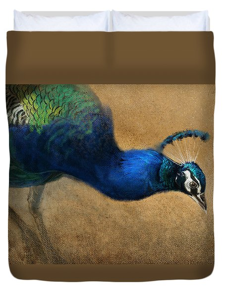 Peacock Light Duvet Cover
