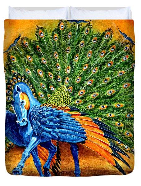 Peacock Pegasus Duvet Cover