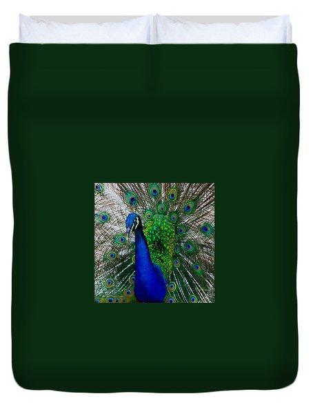 Peacock Portrait Duvet Cover by Susan Molnar
