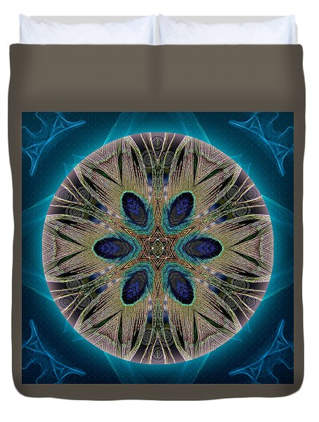 Peacock Power Duvet Cover