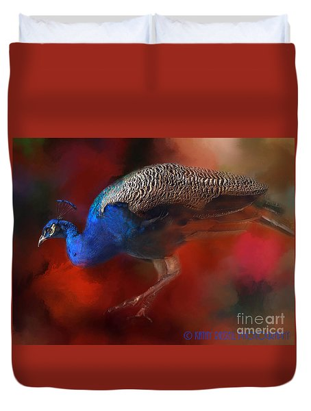 Peacock Profile Duvet Cover