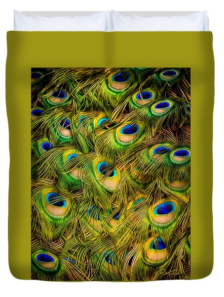 Peacock Tails Duvet Cover