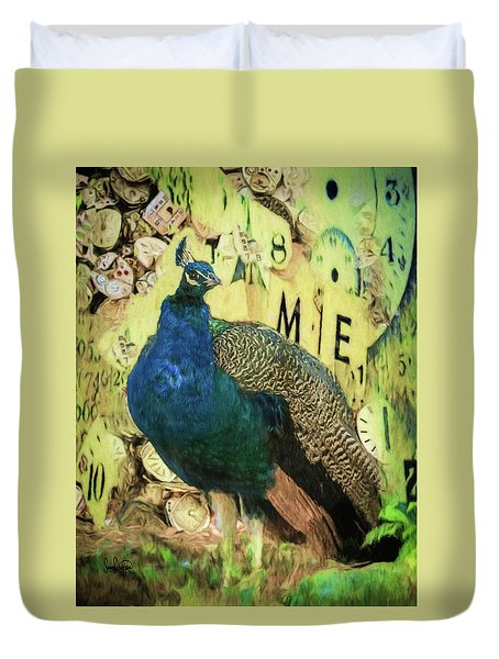 Peacock Time Duvet Cover