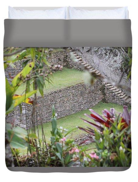 Peeking In At Machu Picchu Duvet Cover