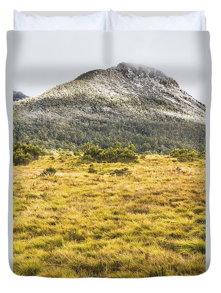 Peaks And Plateaus Duvet Cover