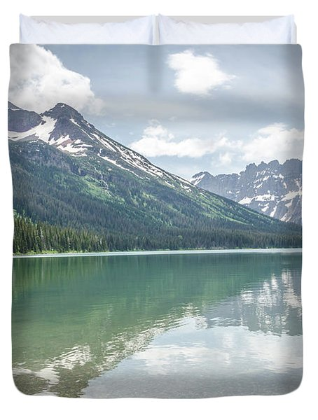 Peaks At Lake Josephine Duvet Cover