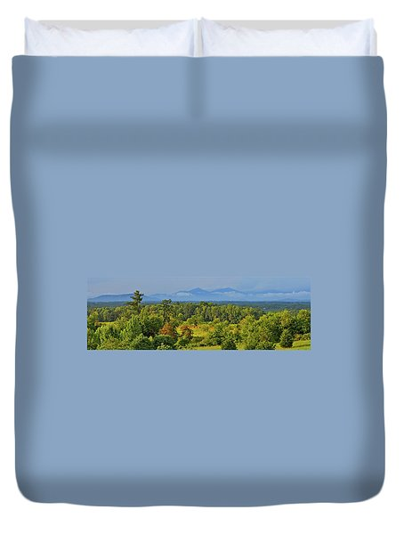 Peaks Of Otter After The Rain Duvet Cover by The American Shutterbug Society