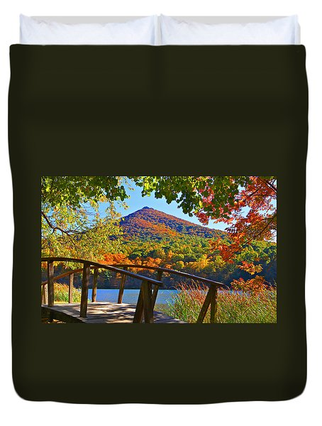 Peaks Of Otter Bridge Duvet Cover