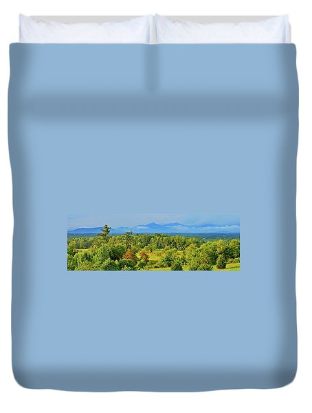 Peaks Of Otter Rainstorm Duvet Cover