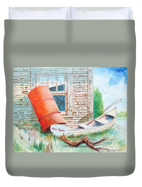 Pealing Paint Duvet Cover