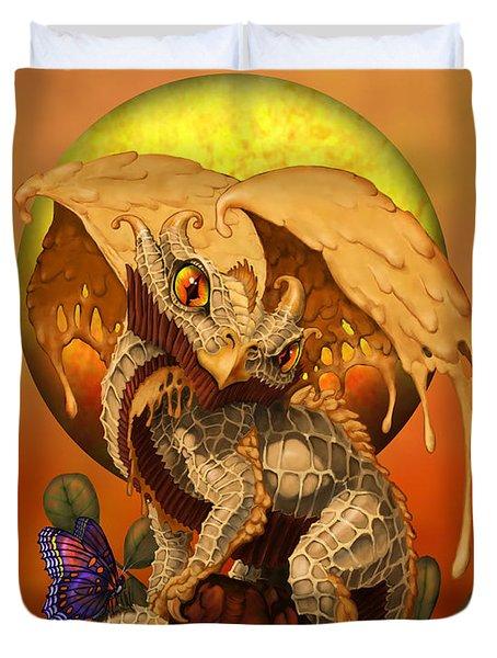 Peanut Butter Dragon Duvet Cover