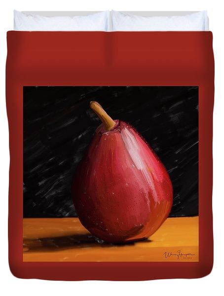 Pear 01 Duvet Cover by Wally Hampton