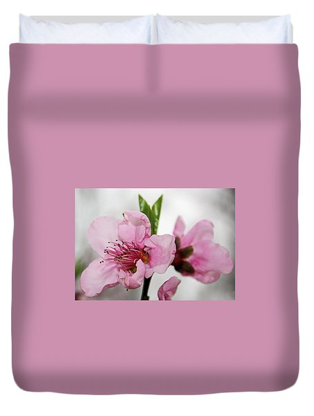 Duvet Cover featuring the photograph Plum Blossom by Kristin Elmquist