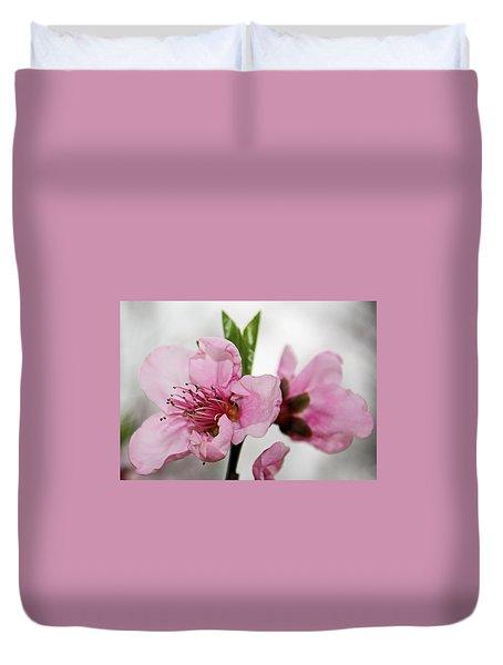 Plum Blossom Duvet Cover by Kristin Elmquist