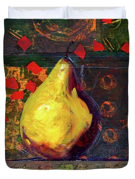 Pear Collage Duvet Cover by Nancy Merkle