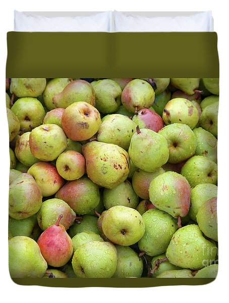 Pear Harvest Duvet Cover