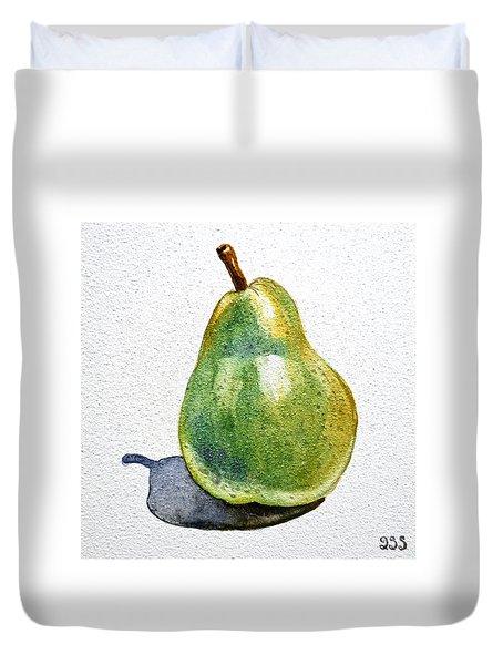 Pear Duvet Cover by Irina Sztukowski