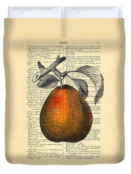Pear Fruit Kitchen Decor Duvet Cover