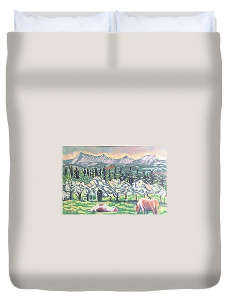 Pear Trees Duvet Cover