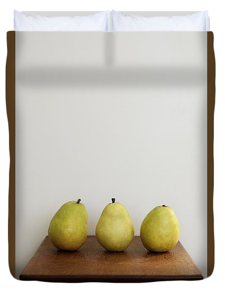 Pear Trio Duvet Cover