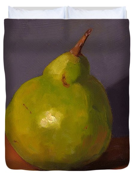 Pear With Gray Duvet Cover