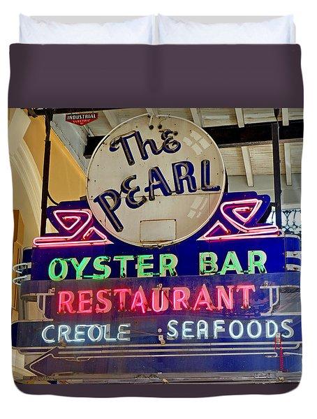 Pearl Oyster Bar Duvet Cover