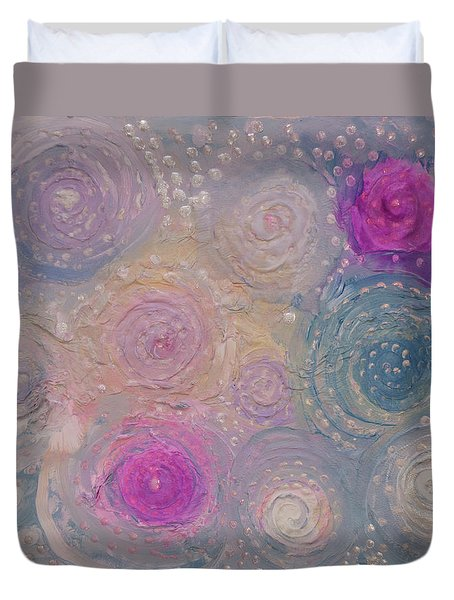 Pearlescent Painting Duvet Cover by Don  Wright